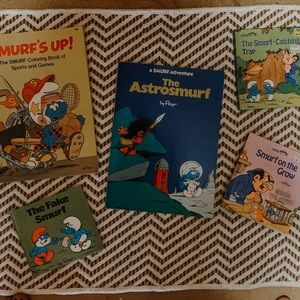 OLD SMURF BOOK COLLECTION